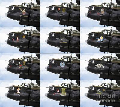 Admiral Digital Art - Lancaster Nose Art  by J Biggadike