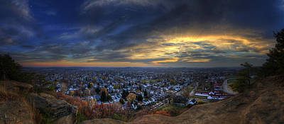 Lancaster Ohio Panorama Art Print