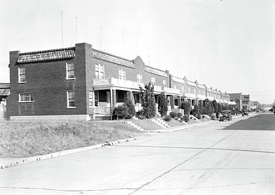 Social Change Photograph - Lancaster, Pennsylvania - Housing. Row Of Houses In Which by Litz Collection