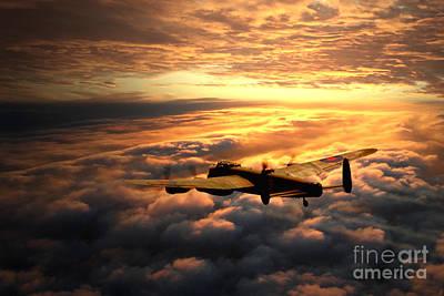 Lancaster Bomber Digital Art - Lancaster Solitude by J Biggadike