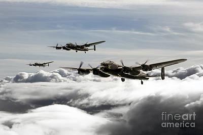 Lincoln Memorial Digital Art - Lancaster Squadron by J Biggadike