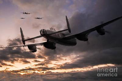 Lancasters Depart Art Print by J Biggadike