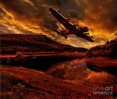 Lancaster's Return Art Print by Nigel Hatton
