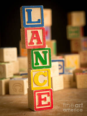 Lance - Alphabet Blocks Art Print by Edward Fielding