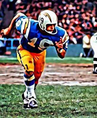 Dallas Painting - Lance Alworth by Florian Rodarte