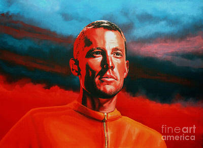 Channel Wall Art - Painting - Lance Armstrong 2 by Paul Meijering
