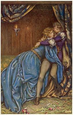 Lancelot And Guinevere  Together Art Print by Mary Evans Picture Library