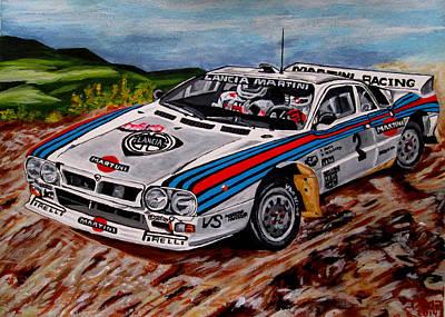 Lancia 037 Art Print by Jose Mendez