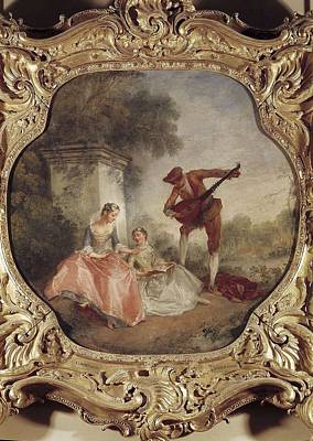 Lancret, Nicolas 1690-1743. The Music Art Print