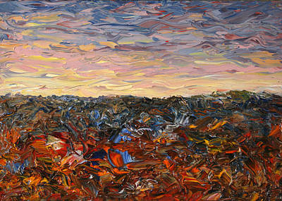 Thick Painting - Land And Sky 2 by James W Johnson