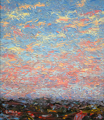 Big Skies Painting - Land And Sky 3 by James W Johnson