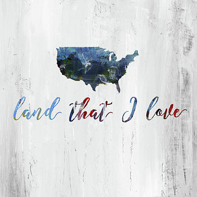 Patriotic Painting - Land I Love by Pamela J. Wingard