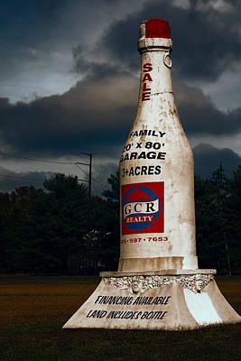Land Includes Bottle Original by Joan Carroll