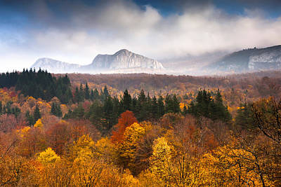 Autumn Landscape Photograph - Land Of Illusion by Evgeni Dinev