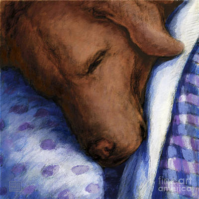 Chocolate Labrador Retriever Mixed Media - Land Of Nod by Kathleen Harte Gilsenan