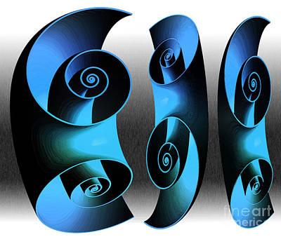 Wrap Digital Art - Land Of Spirals by Terry Weaver