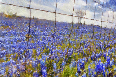 Digital Art - Land Of The Bluebonnets by Carrie OBrien Sibley