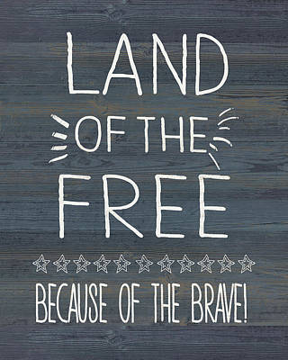 4th Of July Painting - Land Of The Free & Brave by Jo Moulton