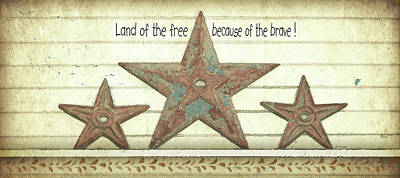 Inspirational Painting - Land Of The Free by Jo Moulton
