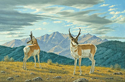 Yellowstone Painting - Land Of The Free by Paul Krapf
