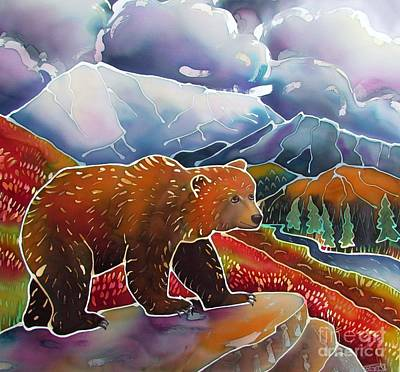 Wyoming Painting - Land Of The Great Bear by Harriet Peck Taylor