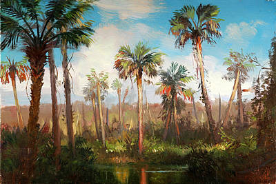 Land Of The Seminole Original by Keith Gunderson