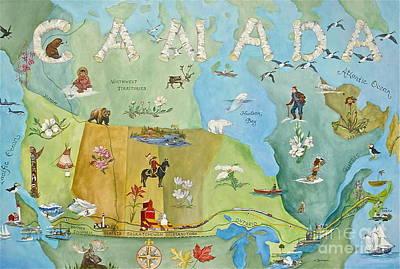 Banff Artist Painting - Land Of The Silver Birch by Virginia Ann Hemingson