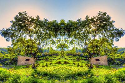 Abstract Landscape Photograph - Land Of Two Suns by Luis Mario