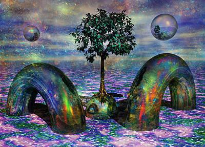 Mind Digital Art - Land Of World 8624028 by Betsy Knapp
