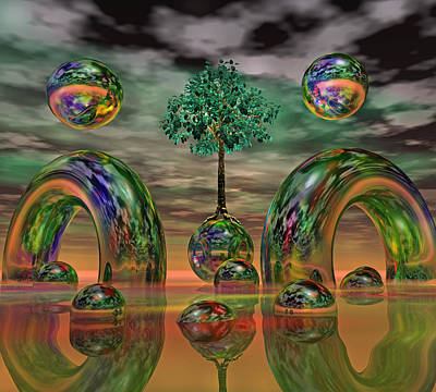Tree Roots Digital Art - Land Of World 8624036 by Betsy Knapp