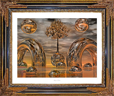 Terrain Digital Art - Land Of World 8624042 Framed by Betsy Knapp