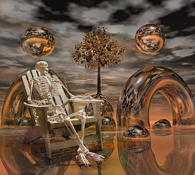 Human Skeleton Digital Art - Land Of World 86240440 With Sam by Betsy Knapp