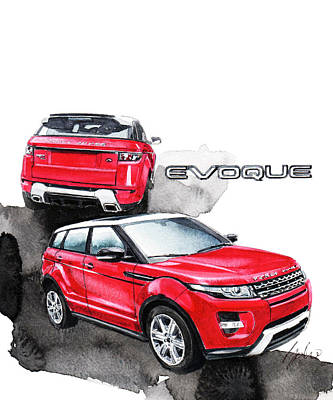 Land Rover Painting - Land Rover Evoque by Yoshiharu Miyakawa