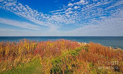 Waterscape Photograph - Land Sea Sky by Barbara McMahon