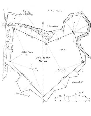Manor Wall Art - Photograph - Land Survey From 1722 by Royal Astronomical Society/science Photo Library