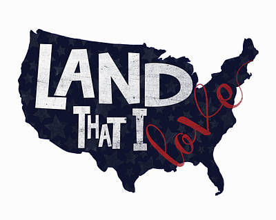 Patriotic Painting - Land That I Love by Alli Rogosich