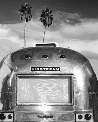 Trailer Photograph - Land Yacht Bw Palm Springs by William Dey