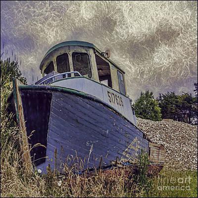 Photograph - Landed Boat by Jean OKeeffe Macro Abundance Art