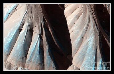 Photograph - Landforms On Mars Nasa by Rose Santuci-Sofranko