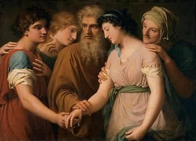Landi Gaspare, The Marriage Of Sarah Art Print by Everett