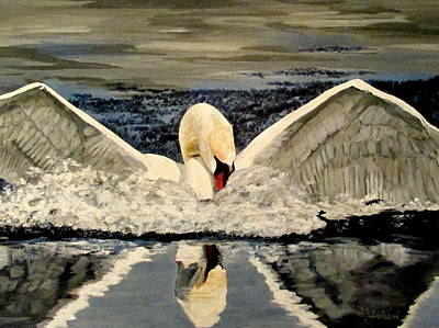Painting - Landing In Grace by Mary Arneson