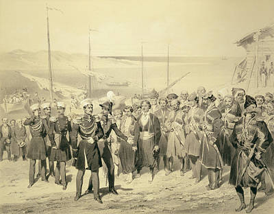 Landing Of A Military Leader Print by Grigori Grigorevich Gagarin