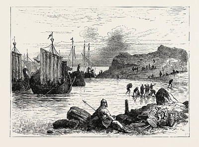 Landing Of The Normans In Sicily Art Print