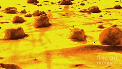 Outer Space Mixed Media - Landing On Mars 3 by Michael Grubb