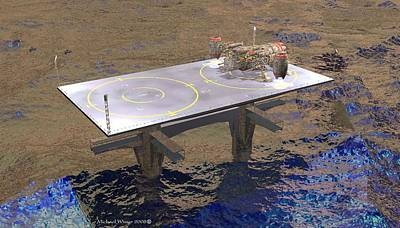 Landing Platform Art Print by Michael Wimer