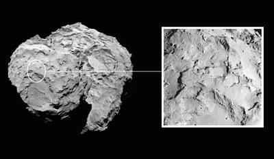 Landing Site On Comet 67pc-g In Context Art Print