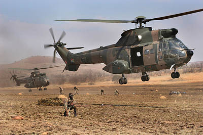 South African Air Force Photograph - Landing Zone by Paul Job