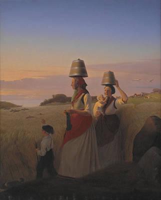 Impressionism Painting - Landlig Scene by Celestial Images
