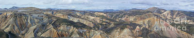 Landmannalaugar Iceland Panorama 2 Art Print by Rudi Prott