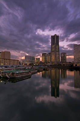 City Sunset Photograph - Landmark Tower by Aaron Bedell